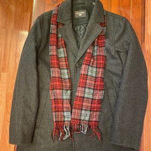 Docket Wool Over Coat Winter Plaid Scarf